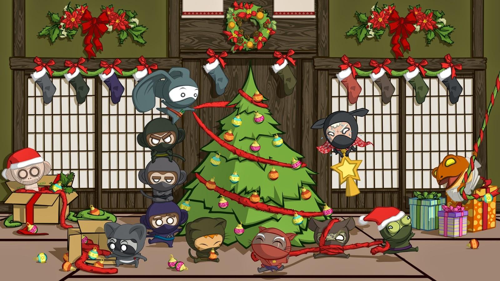 Christmas Tree 3D Wallpaper