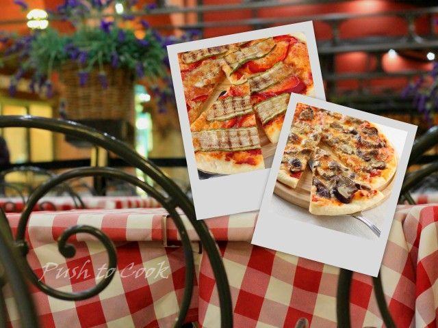 Пицца с грибами и овощами