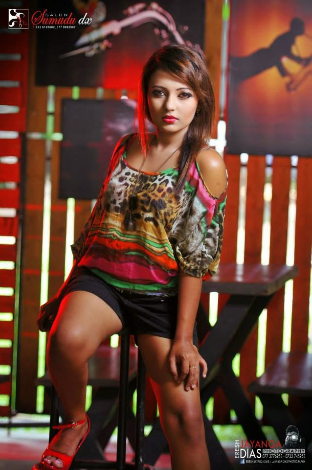 Shani Shenaya Wickremasinghe black shorts
