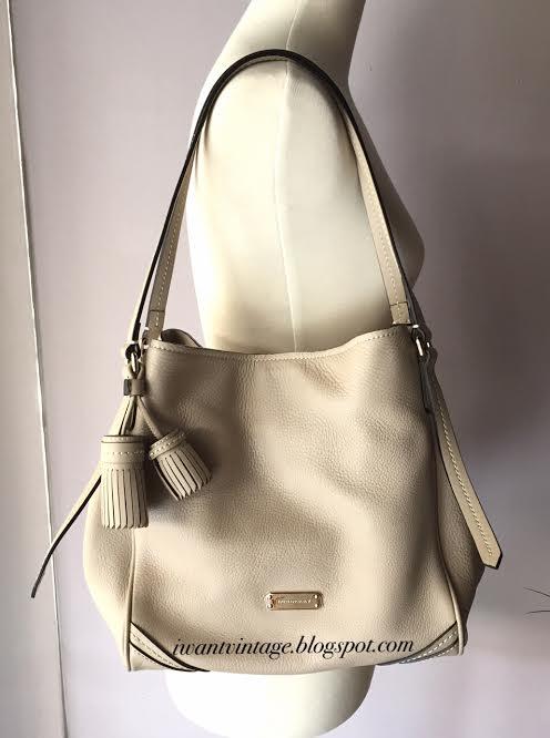 burberry designer handbags paje  Burberry Leather Saddle Stitch Small Canterbury Tote