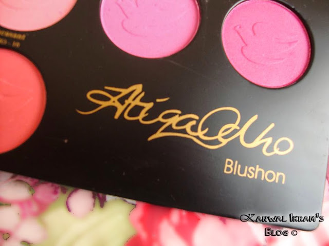 Atiqa Odho Blush Pallet-Review And Swatches