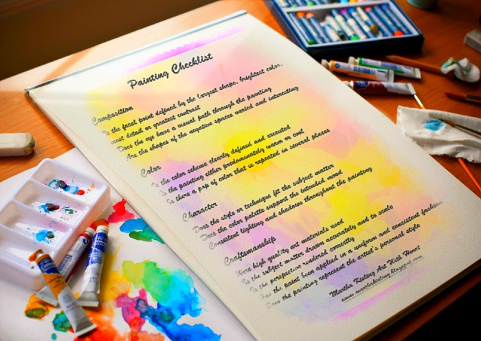 Free! Painting Checklist