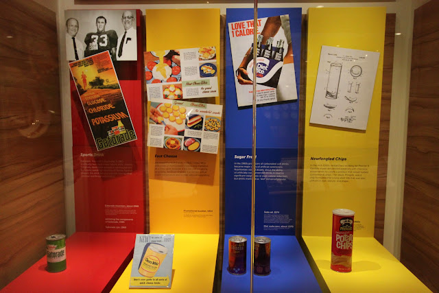 The difference of packaging products in the early days compared to now at National Museum of American History in Washington DC, USA