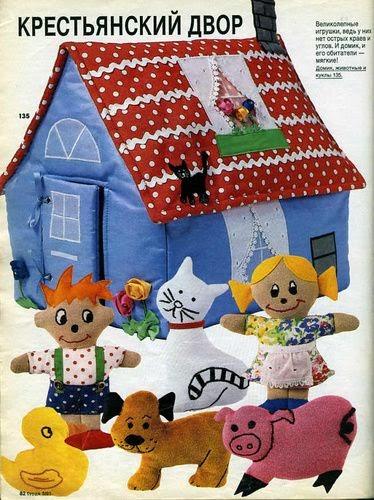 Moldes casinha, bichinhos e bonequinhos