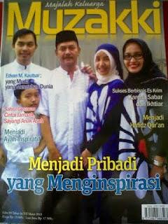 Edvan dan Keluarga menjadi cover Majalah Muzakki