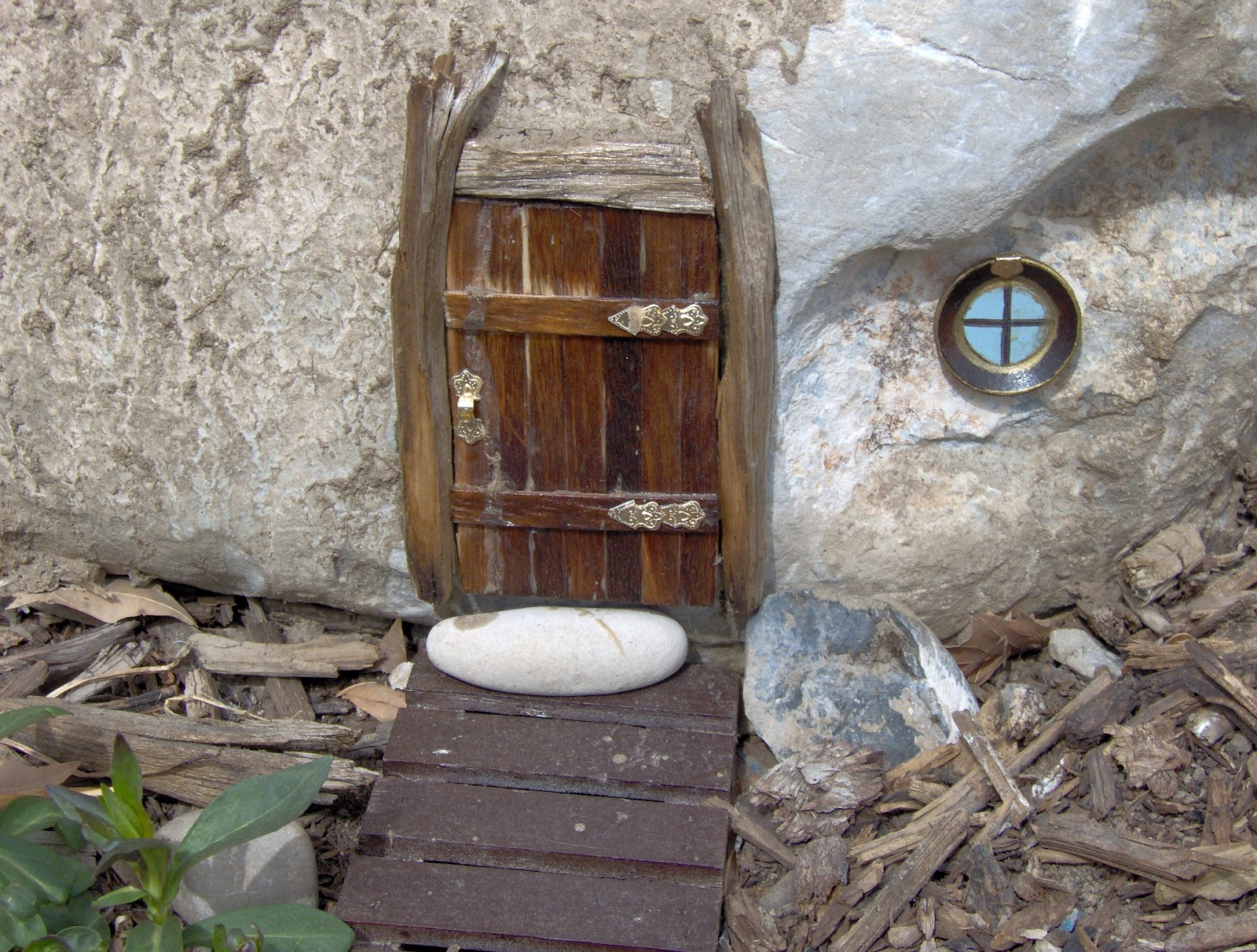 The house of normandy project fairy garden for Unfinished fairy door