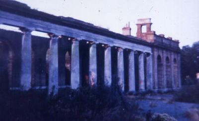 The colonnade during clearance work by GRS  1978