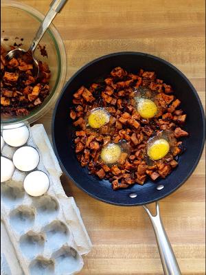 eggs in sweet potato hash