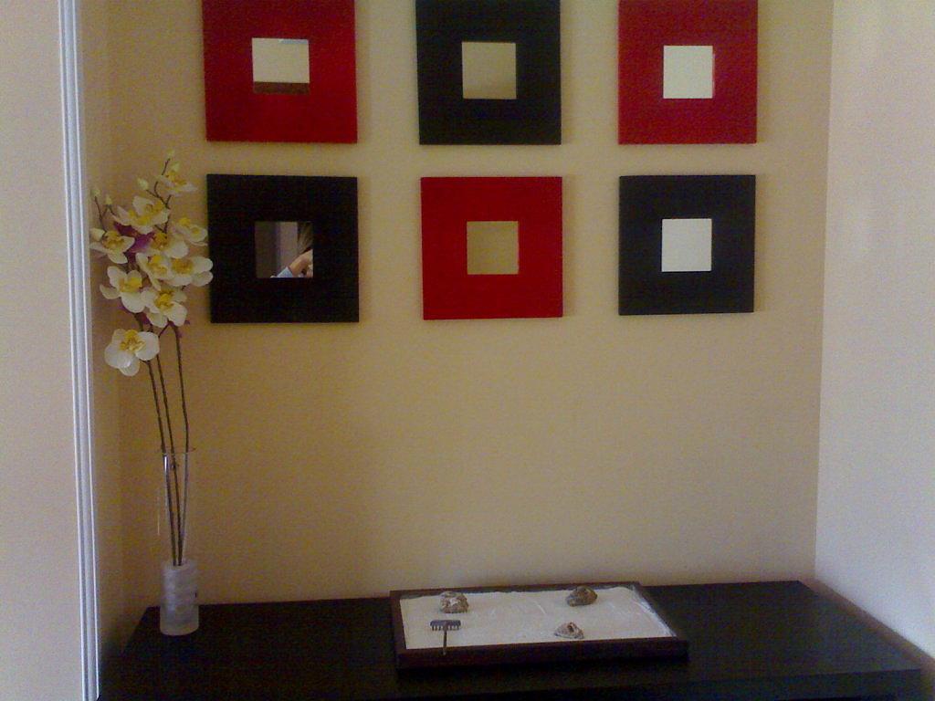 Decoracion actual de moda decoraci n con tonos rojos - Formas de espejos ...