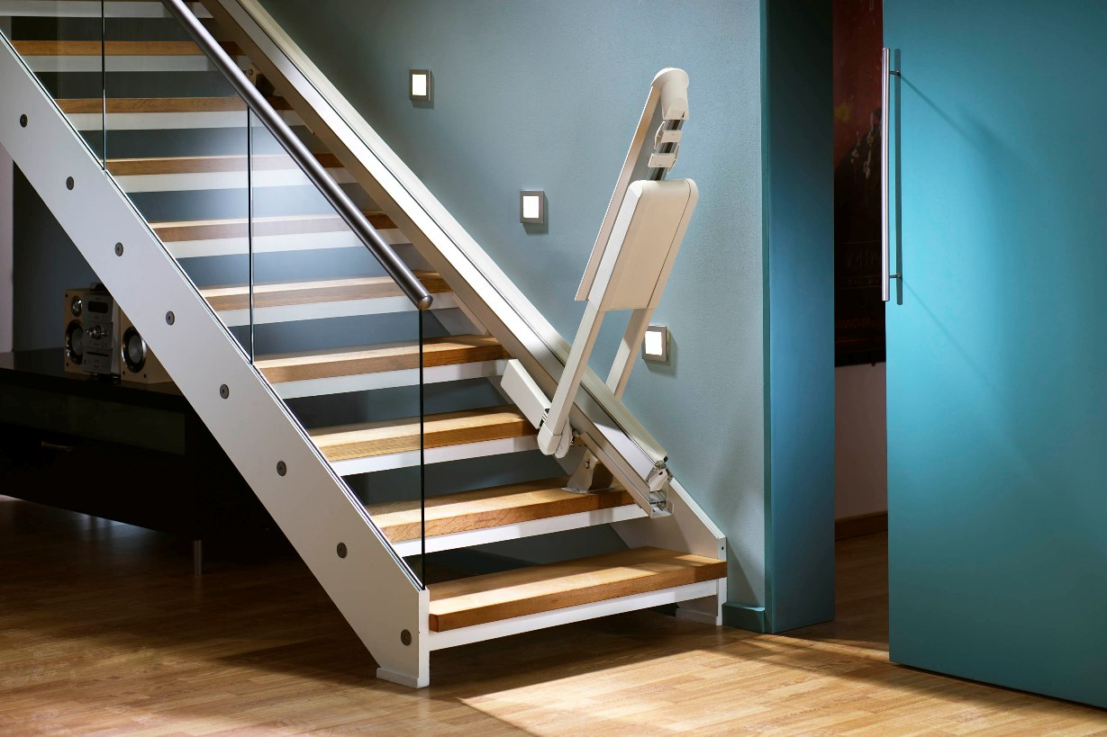 Hinged Door Lifts : Stair lifts hinged tracks for straight stairlifts