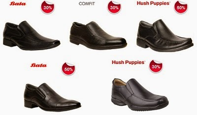 Min 30% & Max 50% Off on Men's Bata / Hush Puppies Shoes @ Bata