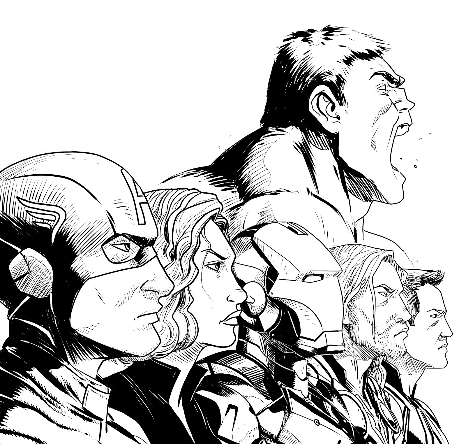 falcon avengers coloring pages - photo#30