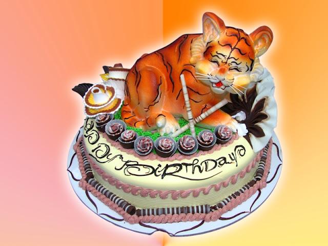 Bánh sinh nhật hình con cọp