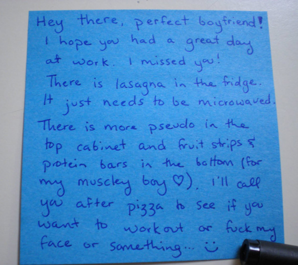 love notes to girlfriends