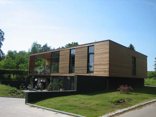 Pre assembled house, Denmark