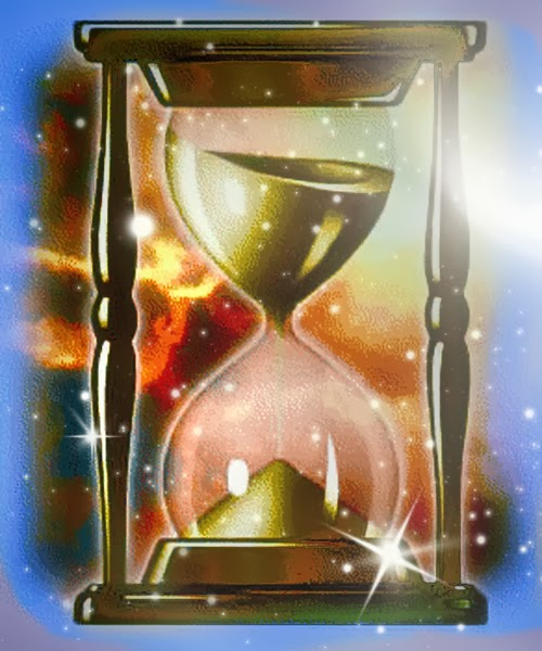 Hourglass-- Time is trickling away.