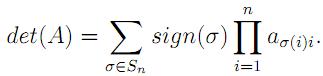 Linear Algebra: #14 Leibniz Formula equation pic 1