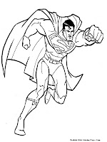 Man Of Steel Kids Coloring Pages Realistic