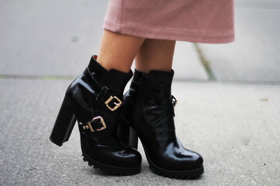 shoes heels ankle boots black