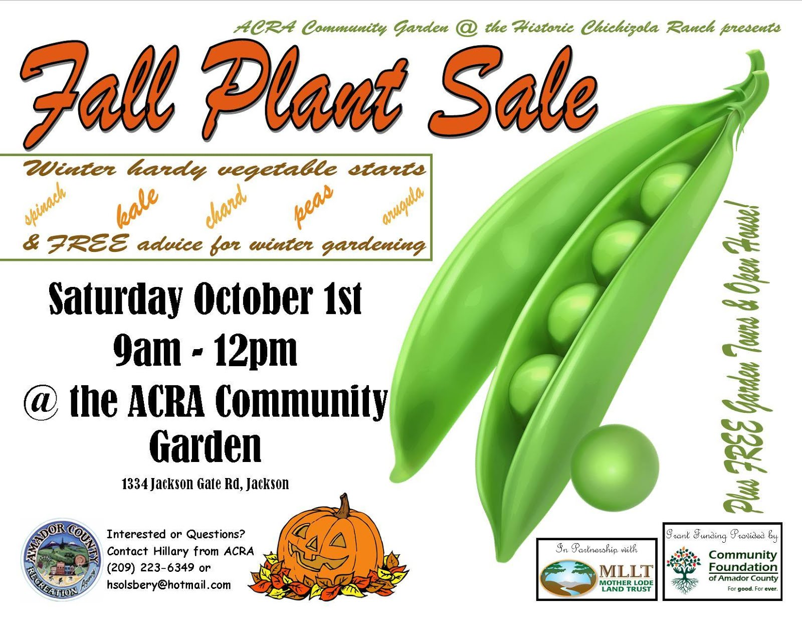 Fall Plant Sale - Oct 1