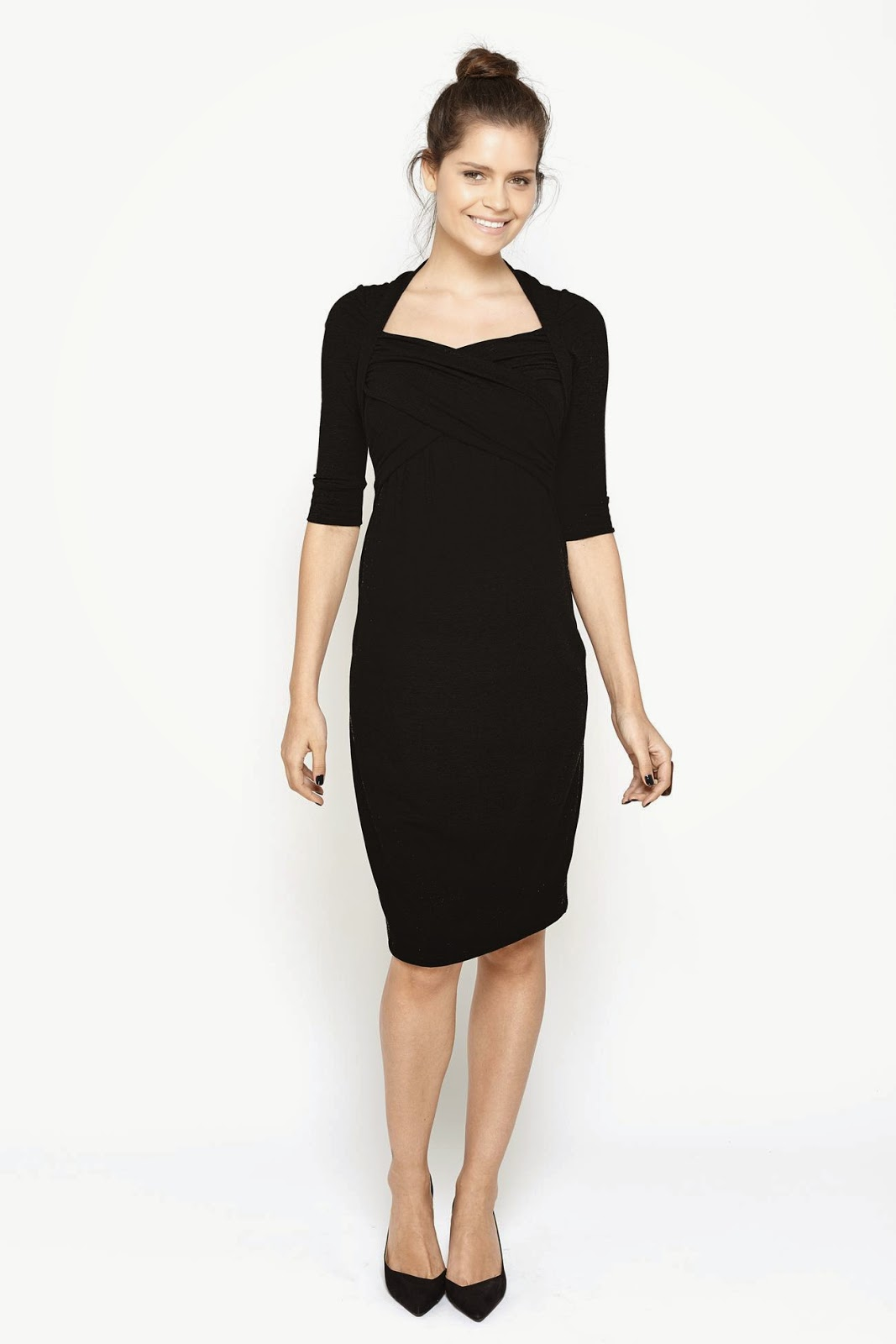 Mode sty a bump in the night black maternity dresses modest black maternity dress with sleeves follow mode sty for stylish modest clothing ombrellifo Gallery