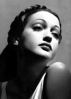 Vintage black and white photo of actress Dorothy Lamour