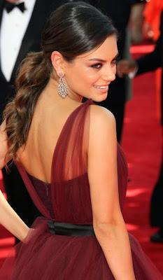 Mila Kunis Sterling Dangle Earrings
