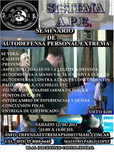 PROXIMO SEMINARIO DE AUTODEFENSA EXTREMA