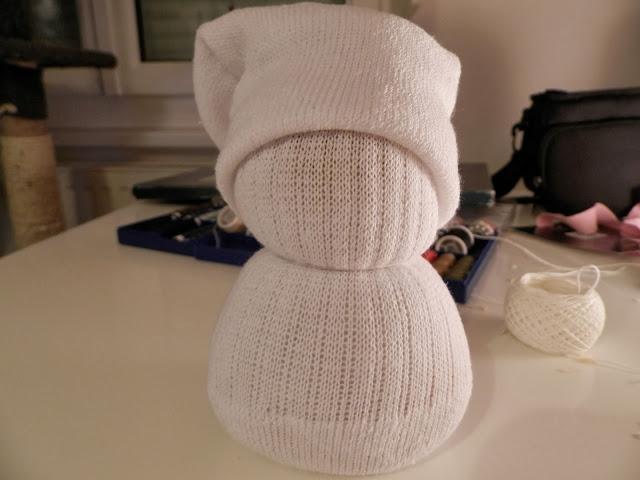 Coton et Création : bonhomme de neige tissu