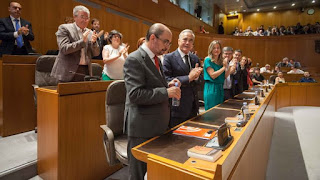"""Presidente de Aragón gobernará para unos ciudadanos """"que han sido estafados"""""""