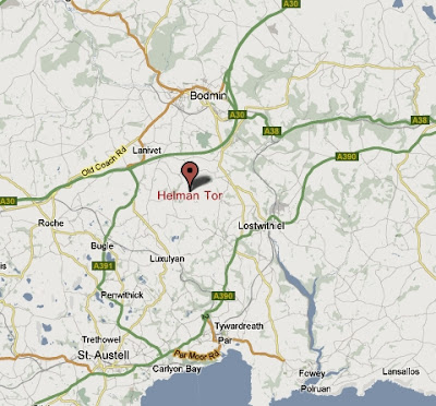 Helman Tor Map