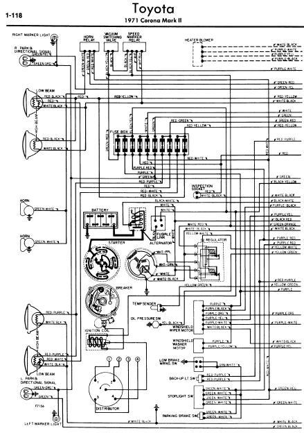 repair manuals toyota corona ii 1971 wiring diagrams