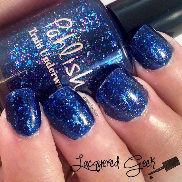 Pahlish Train Underwater nail polish swatch from LacqueredGeek
