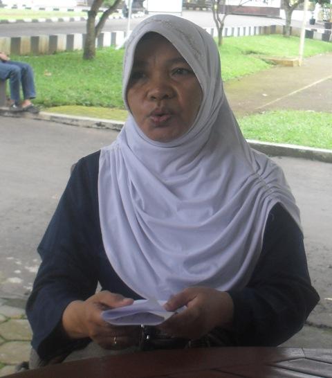 Farida Rahmawati yang menjadi korban gendam di angkutan kota (angkota