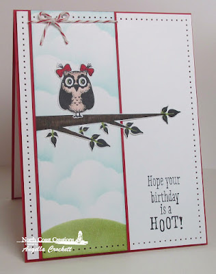 NCC Who Loves You?, NCC Custom Owl Family Dies, Card Designer Angie Crockett