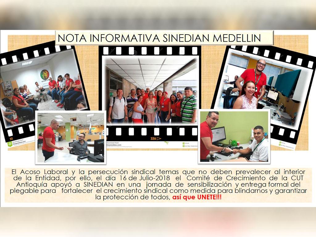 Nota informativa SINEDIAN Medellin