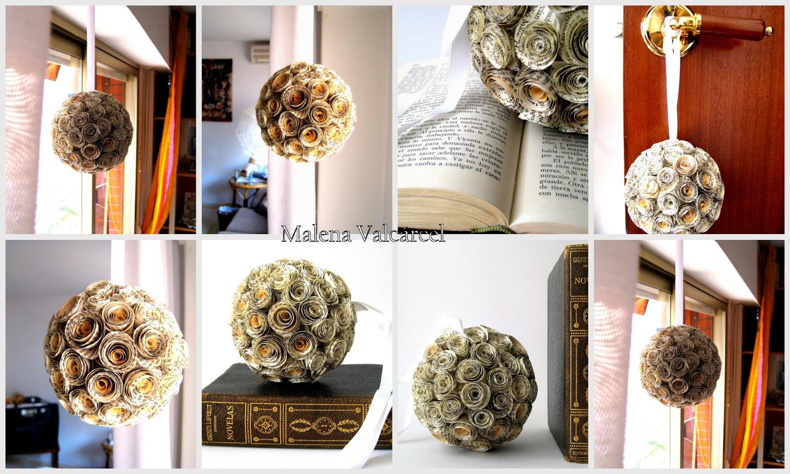 malena valc u00e1rcel original art  adorno flores de papel