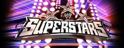 imagen del poster o logotipo del programa superstars de la wwe