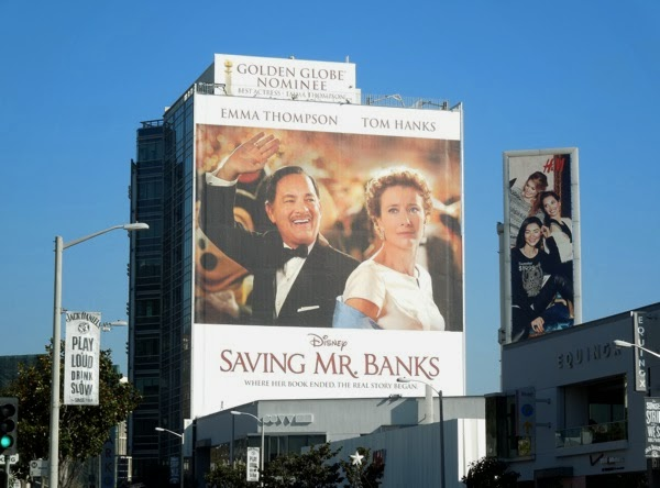Giant Saving Mr Banks movie billboard