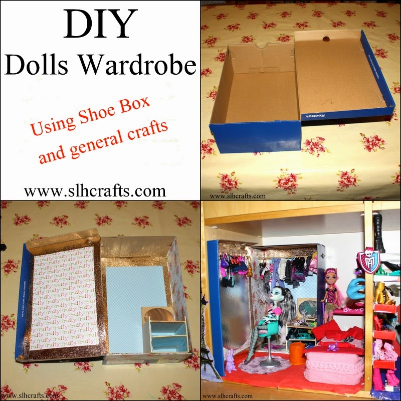 dolls wardrobe shoe box