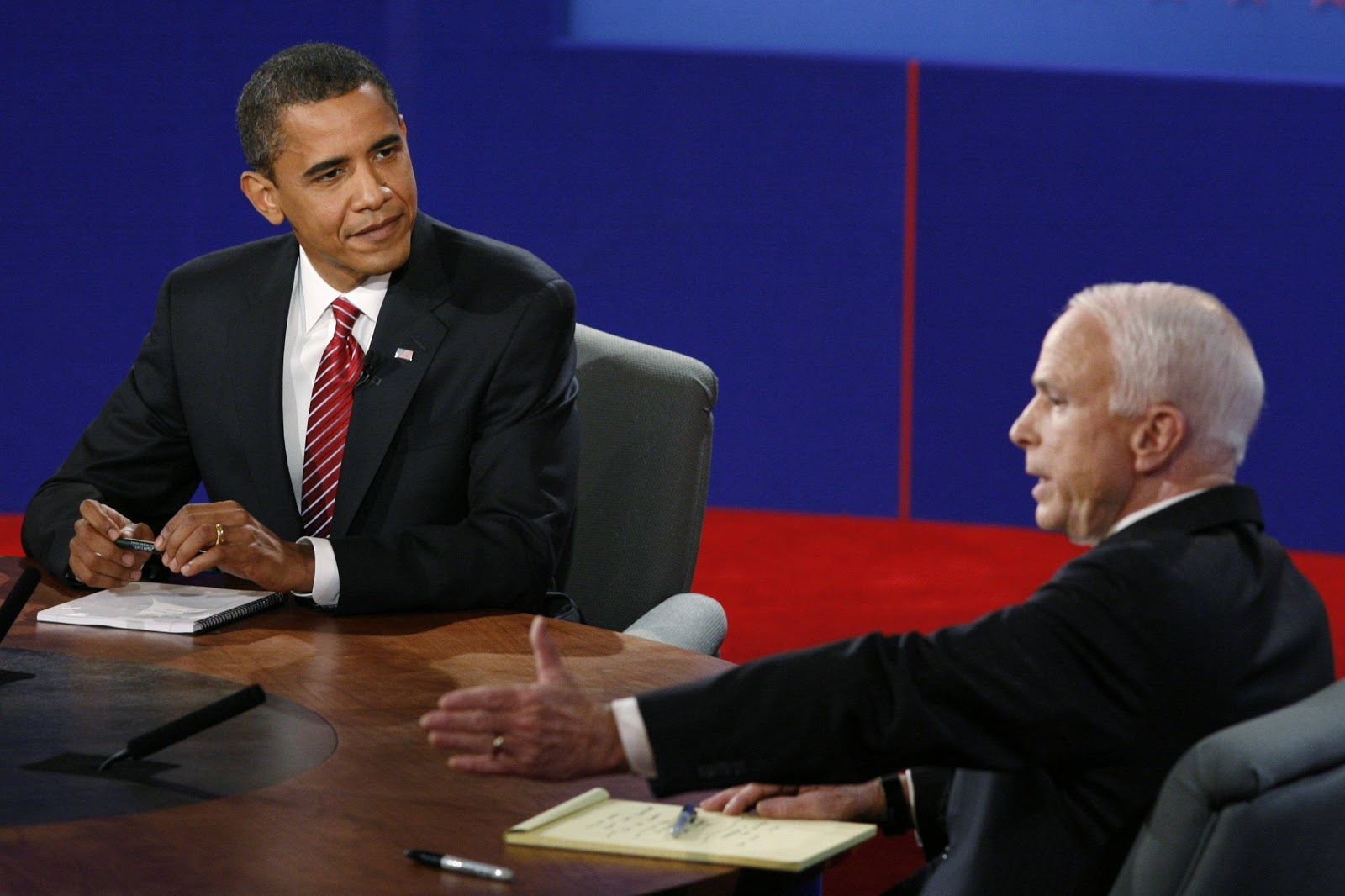 Barack Obama (D) vs. John McCain (R)
