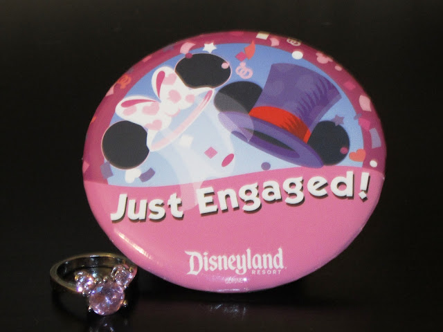 Just Engaged Disneyland Button and Mickey Ring