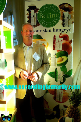 BeFine, BeFine Fine Food Skincare display booth at Fall 2013 Beauty Press Spotlight Day