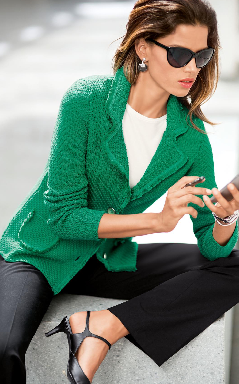 Madeleine Blazer in Apple Green