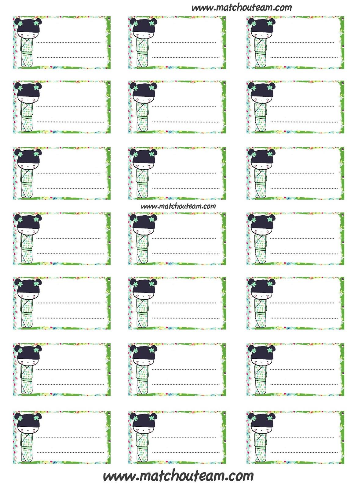 Souvent Ma Tchou team: étiquettes rentrée scolaire à imprimer SN37