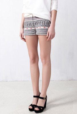 short Pull and Bear estampado étnico