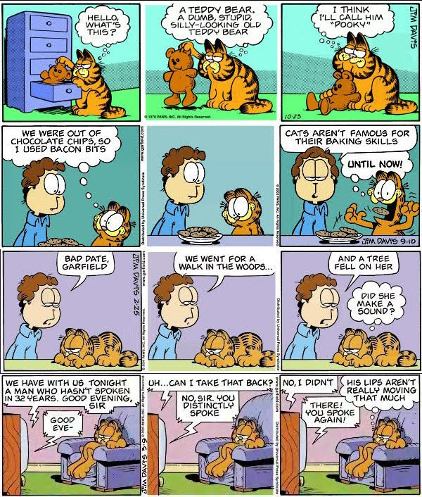 I think Garfield was much better drawn in &#39;78. But that&#39;s just me..