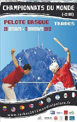 Tarbes : CHAMPIONNAT DU MONDE ESPOIRS DE PELOTE BASQUE 2012