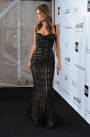 Alessandra Ambrosio looking hot in a Zuhair Murad gown