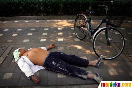 11 foto tidur yang gokil
